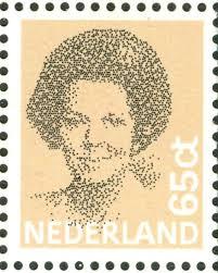 Peter Struycken, Queen Beatrix stamp, 1982