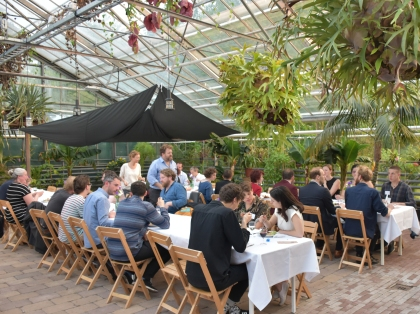 conference dinner in the botanical gardens
