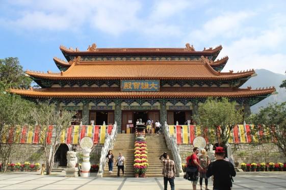 Buddhist temple in Ngong Ping (Hong Kong, Lantau Island)